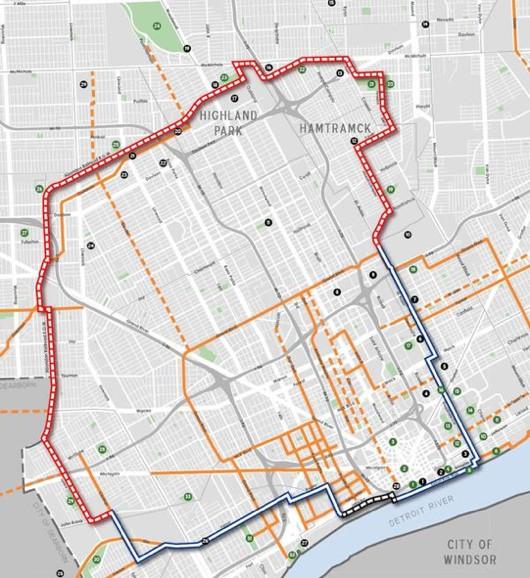 Il tracciato-a-pedali di Detroit ispirato al GRAB di Roma