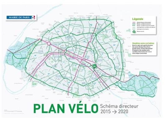 """L'anello ciclabile """"Plan Vélo"""" di Parigi"""
