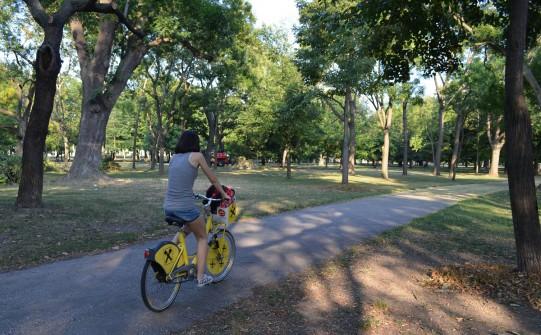 pedalando nel Prater