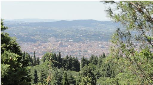 Firenze vista dal campeggio di Fiesole