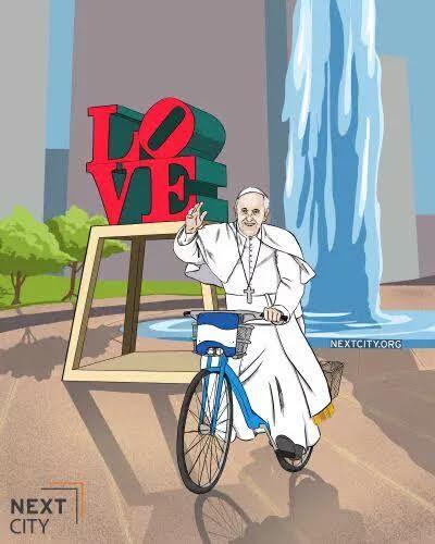 papa francesco bicicletta