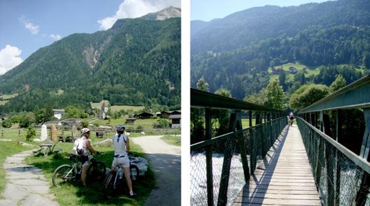 Parco tematico lungo la pista ciclabile e un altro ponte sul Passirio