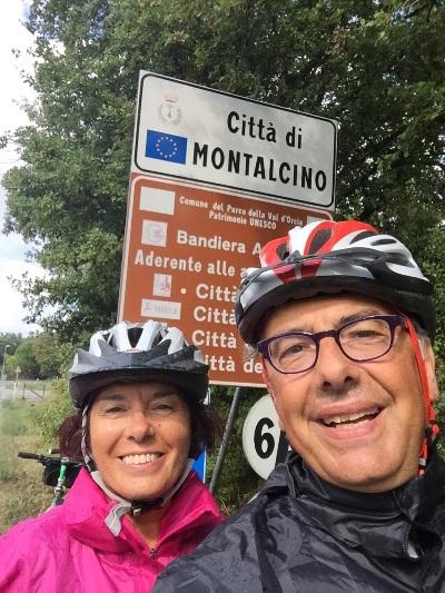 arrivo a Montalcino