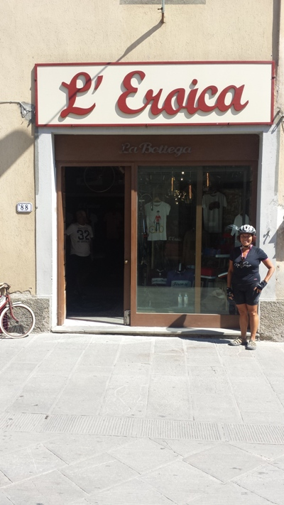 Arrivo a Gaiole in Chianti Eroica