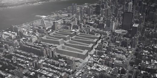 Visione concettuale del quartiere Chelsea, a Manhattan