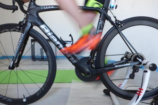 foto effettuata durante l'analisi della pedalata in tempo reale