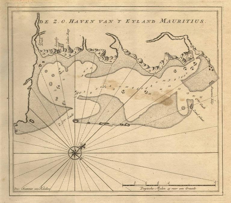 Antica mappa Mauritius