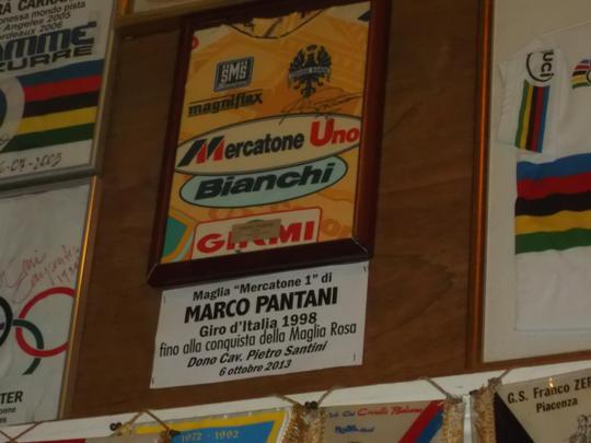 La maglia del grande Marco Pantani