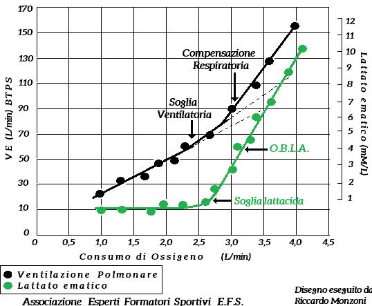 Ventilazione polmonare e lattato ematico