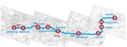 percorso pista ciclabile veloce Germania