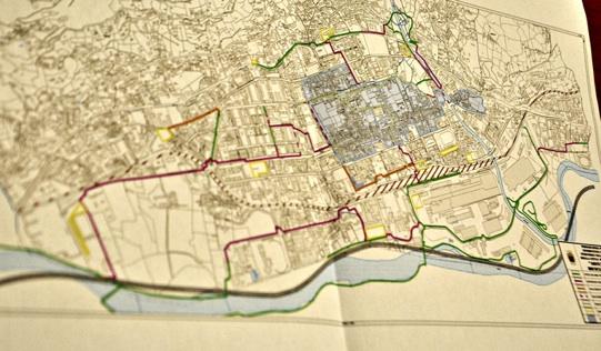 Mappa pista ciclabile Aosta