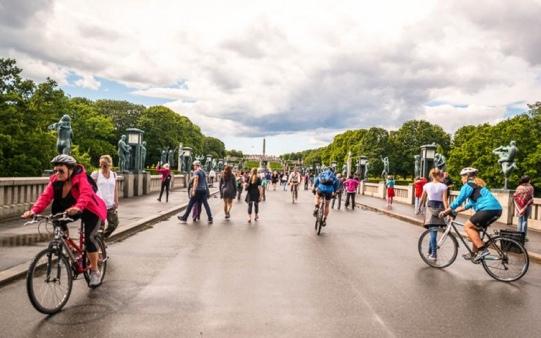Norvegia_ciclisti_Oslo