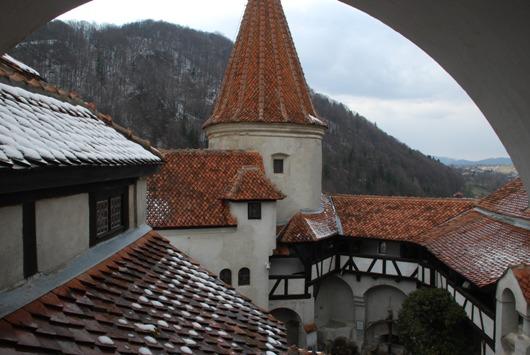 Vista da un balcone del castello