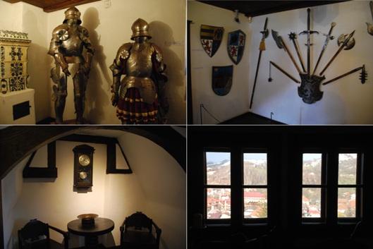 Gli interni del castello di Bran