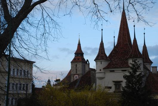 Vista dal quartiere Schei di Brasov verso il centro
