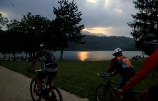 07 tramonto al lago di Levico
