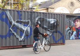 Bike graffiti a Christiania