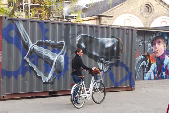 Bike graffiti a Christiania