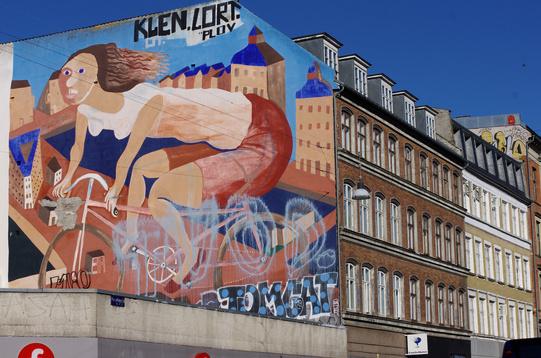 Murale bicicletta Copenhagen