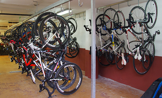 livigno bike hotel bike room