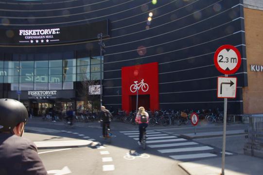 Shopping centre parcheggio bici