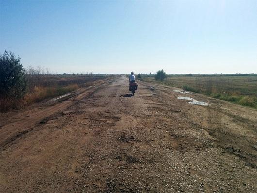 asfalto distrutto