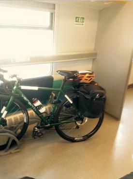 La bici in treno.