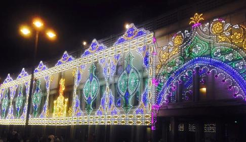 Luminarie a Ragusa per la festa di San Giovanni