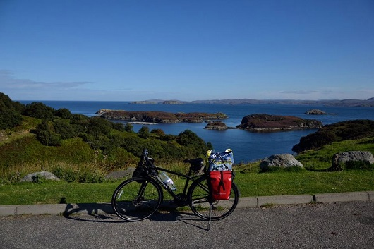 Bike at Drumbeg view point