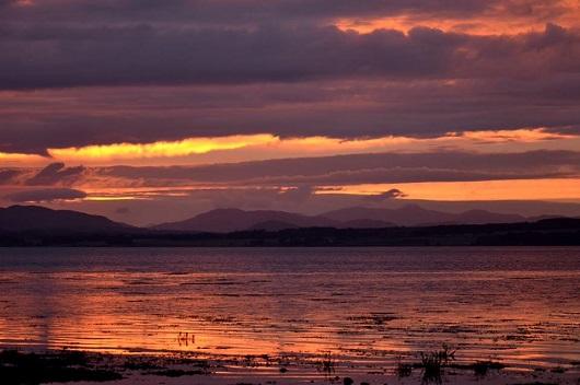 Bunchrew camp sunset