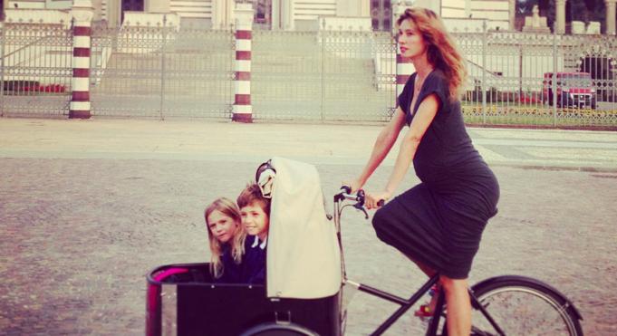 Fridabike, incinta in bicicletta