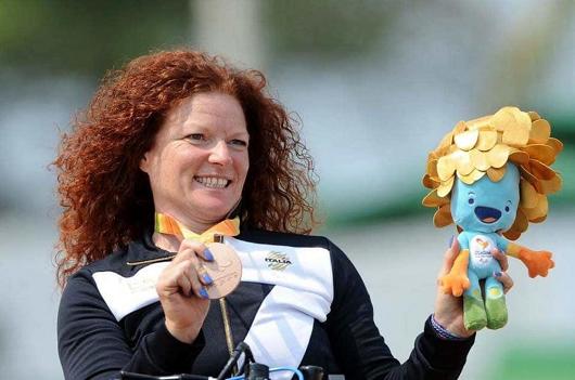 Francesca Porcellato soddisfatta per l'oro di Rio de Janeiro 2016