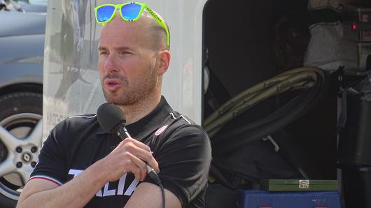 Vittorio Podestà intervistato al termine della gara di Coppa Europa di Handbike di Bovezzo (30 Aprile 2016)