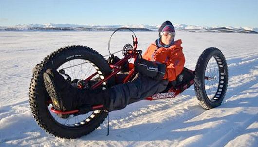 L'handbike si puo' praticare anche d'inverno