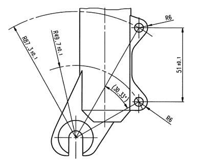 Attacco freno disco anteriore
