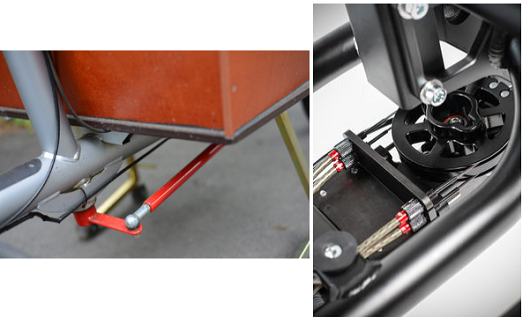 Sistema a singolo braccio tradizionale (sx), sistema a cavi (dx)