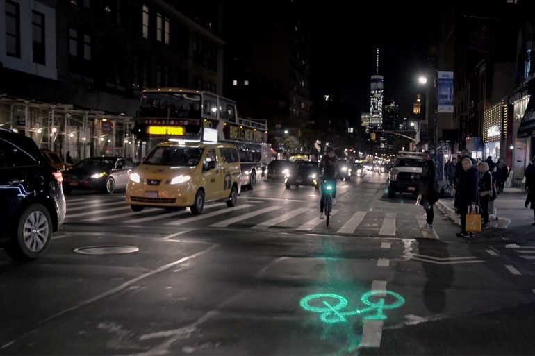 laserlights per il bike sharing di New York