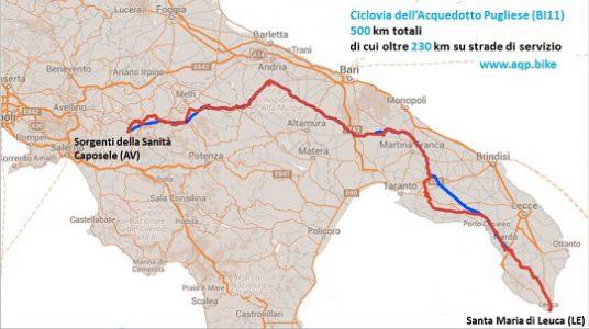 mappa ciclovia acquedotto pugliese