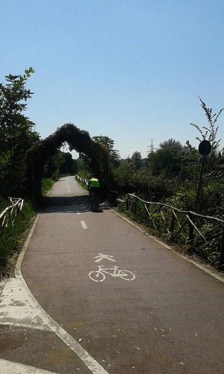 Castel Giubileo - inizio pista ciclabile