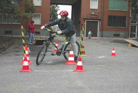 abilità in bici
