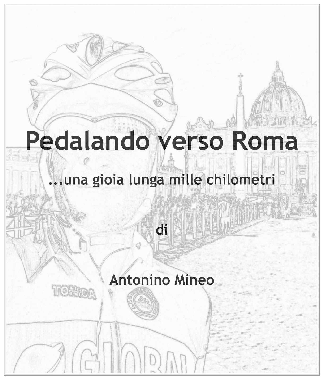 Disegno di ciclista a Roma