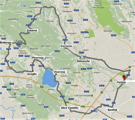 Mappa Viverone