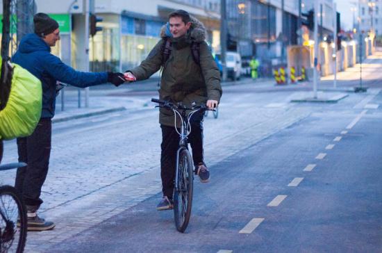 in bici al lavoro