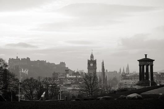 Vista della città da Calton Hill