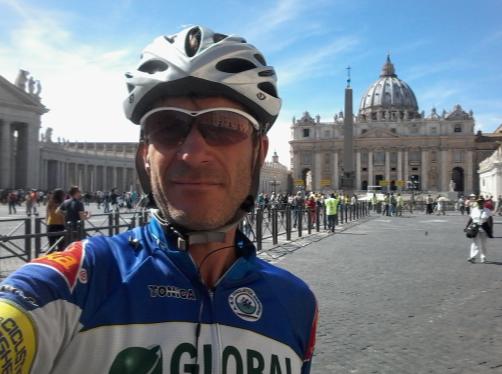 Ciclista a San Pietro