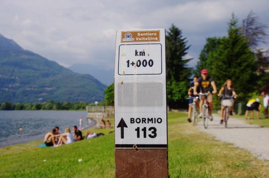 Primo km sentiero Valtellina