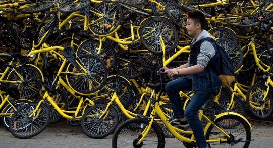 bike sharing china flood