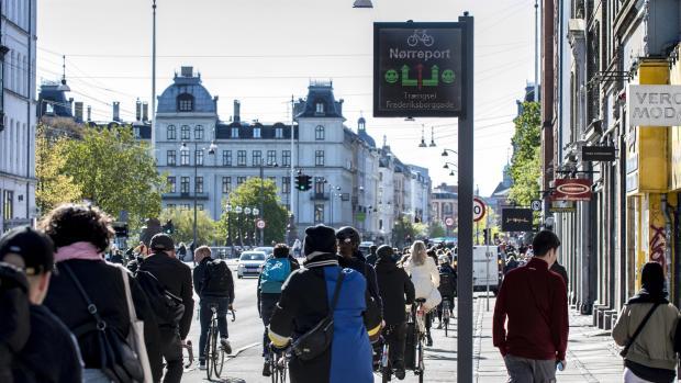 monitor per bici a Copenaghen