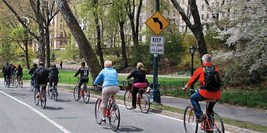 new york in bici