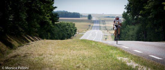 in bici in campagna